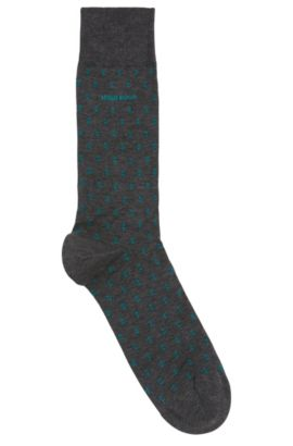 'RS Design US' | Dash Pattern Stretch Cotton Blend Socks, Grey