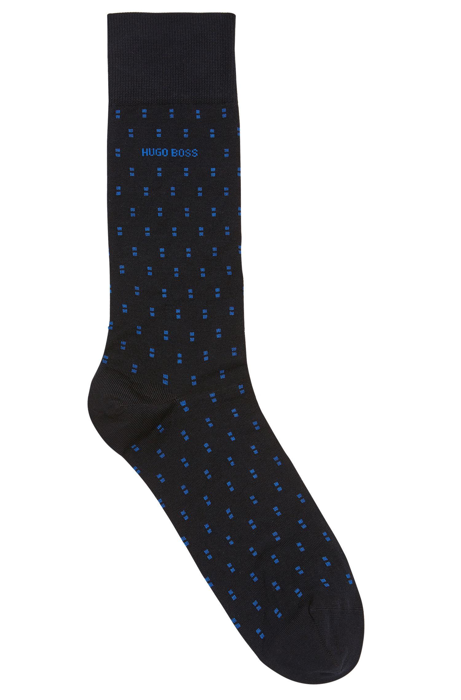 'RS Design US' | Dash Pattern Stretch Cotton Blend Socks