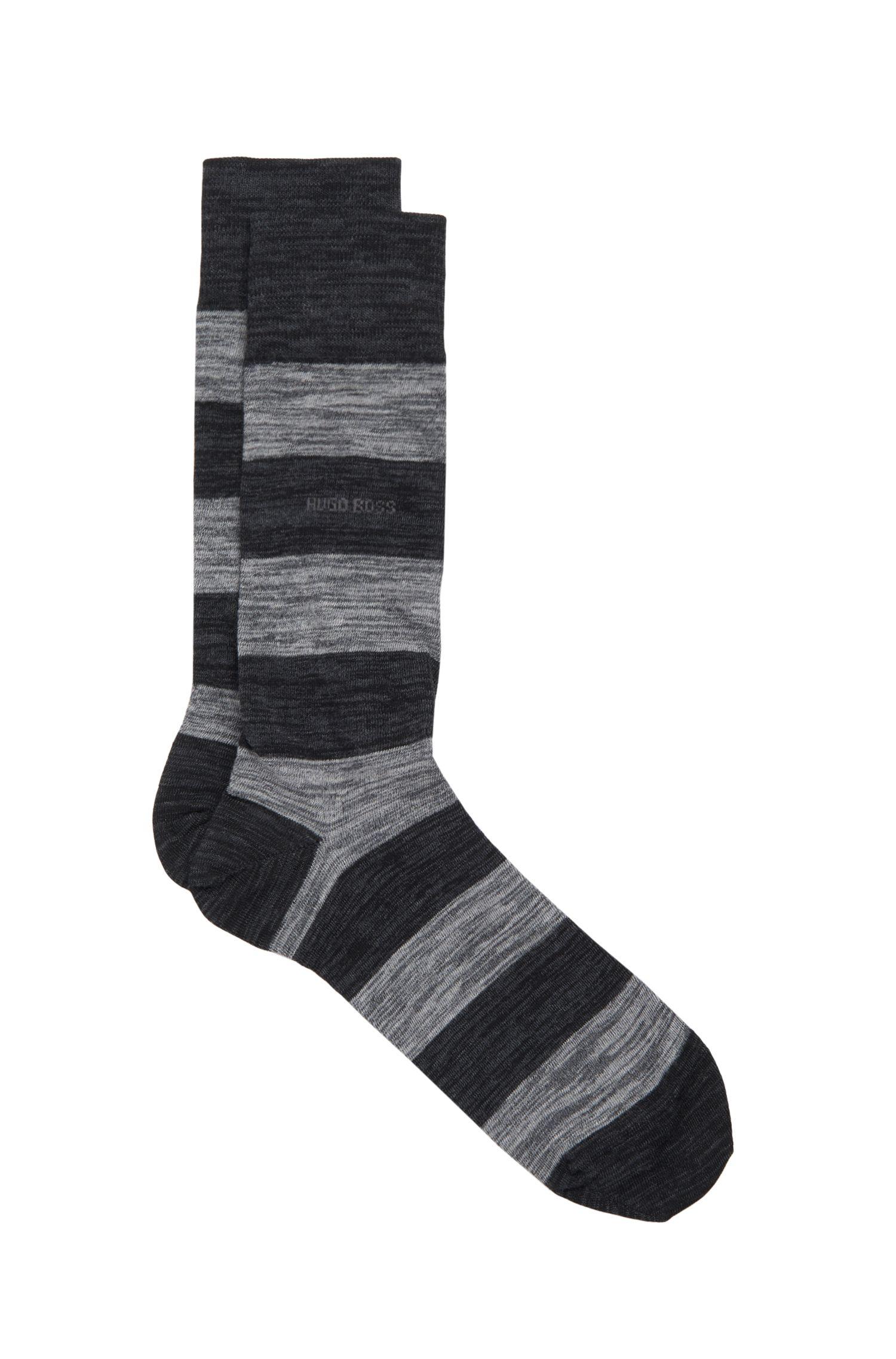 'RS Design US' | Striped Stretch Cotton Blend Socks