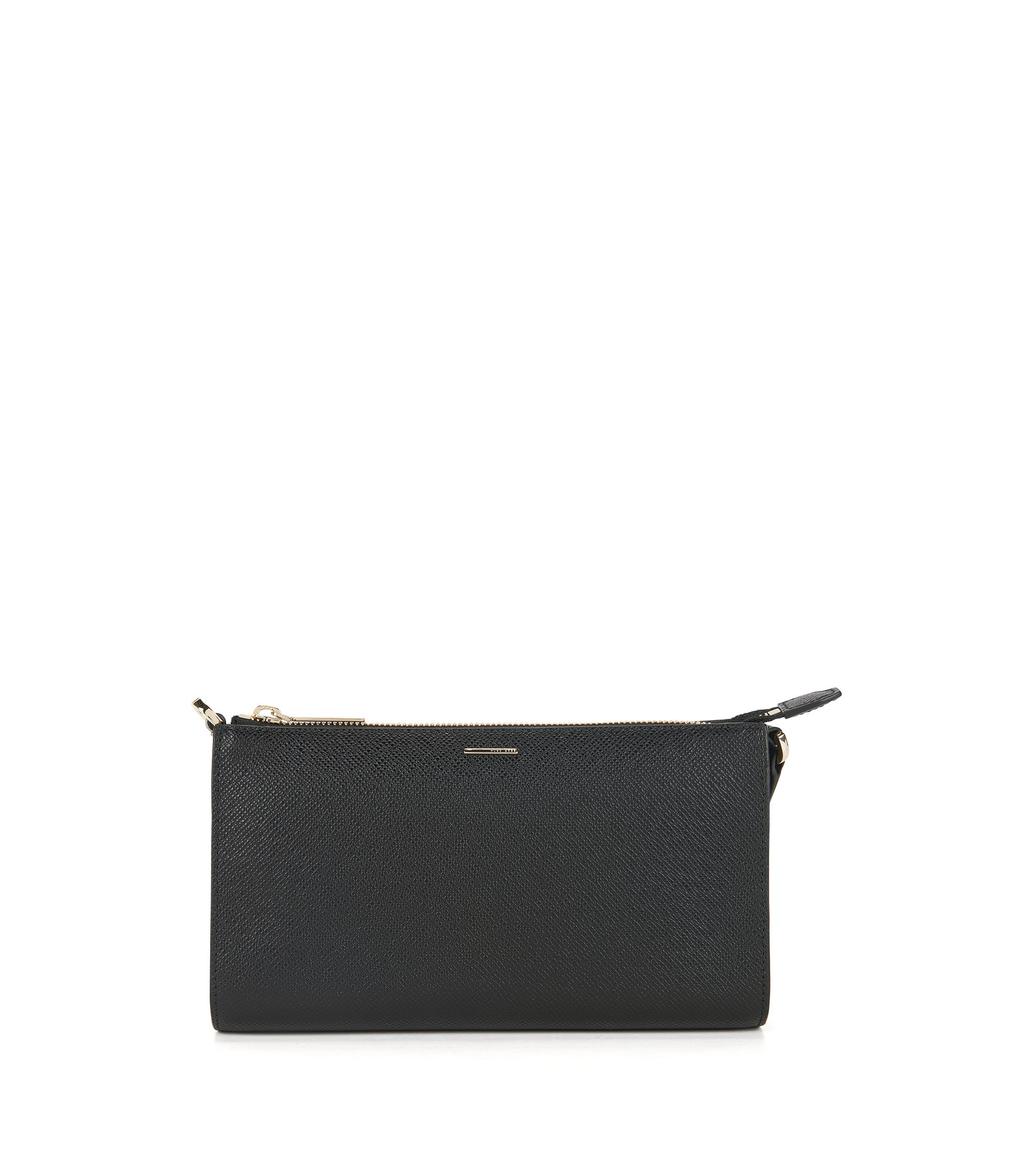 Calfskin Embossed Clutch | Staple Mini Bag FPB, Black