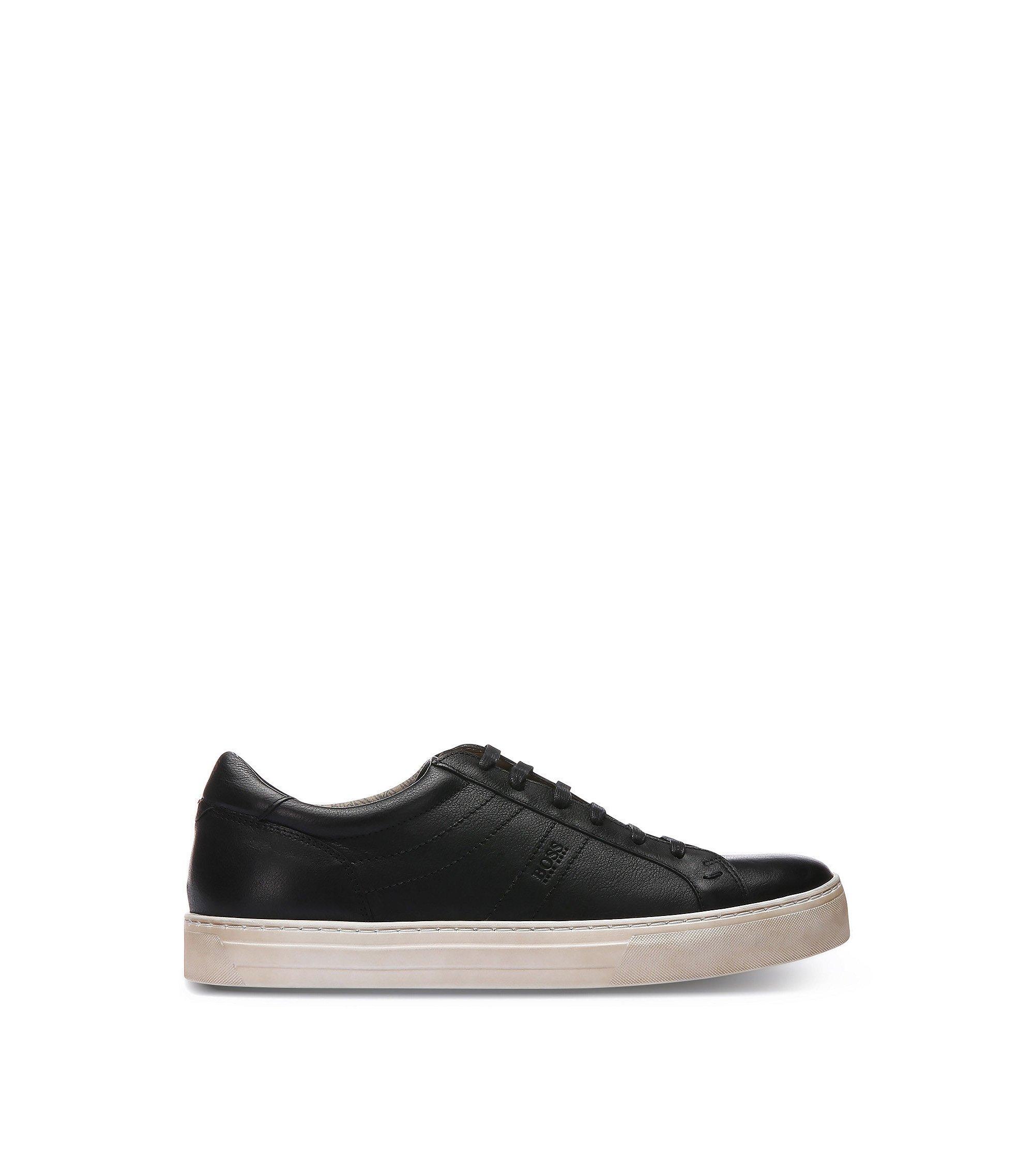 Calfskin Vintage Sneaker | Noir Tenn Itws, Black