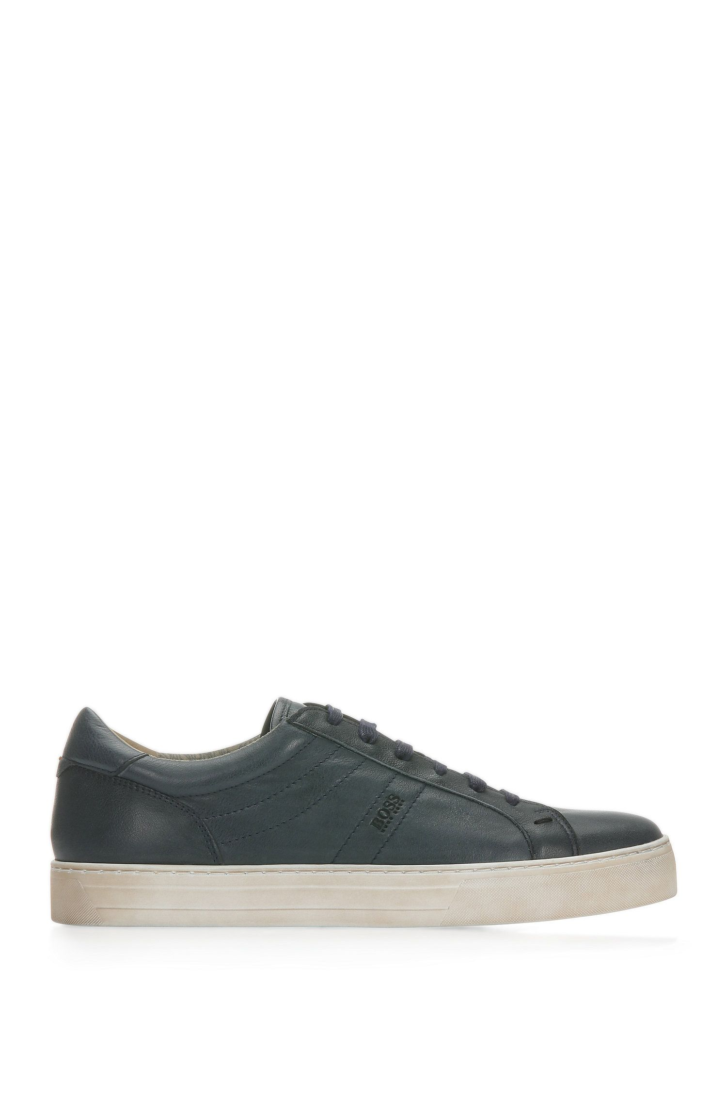 Calfskin Vintage Sneaker | Noir Tenn Itws