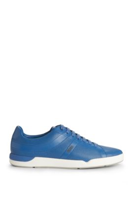 Leather Perforated Sneaker | Stillnes Tenn ltpf, Blue