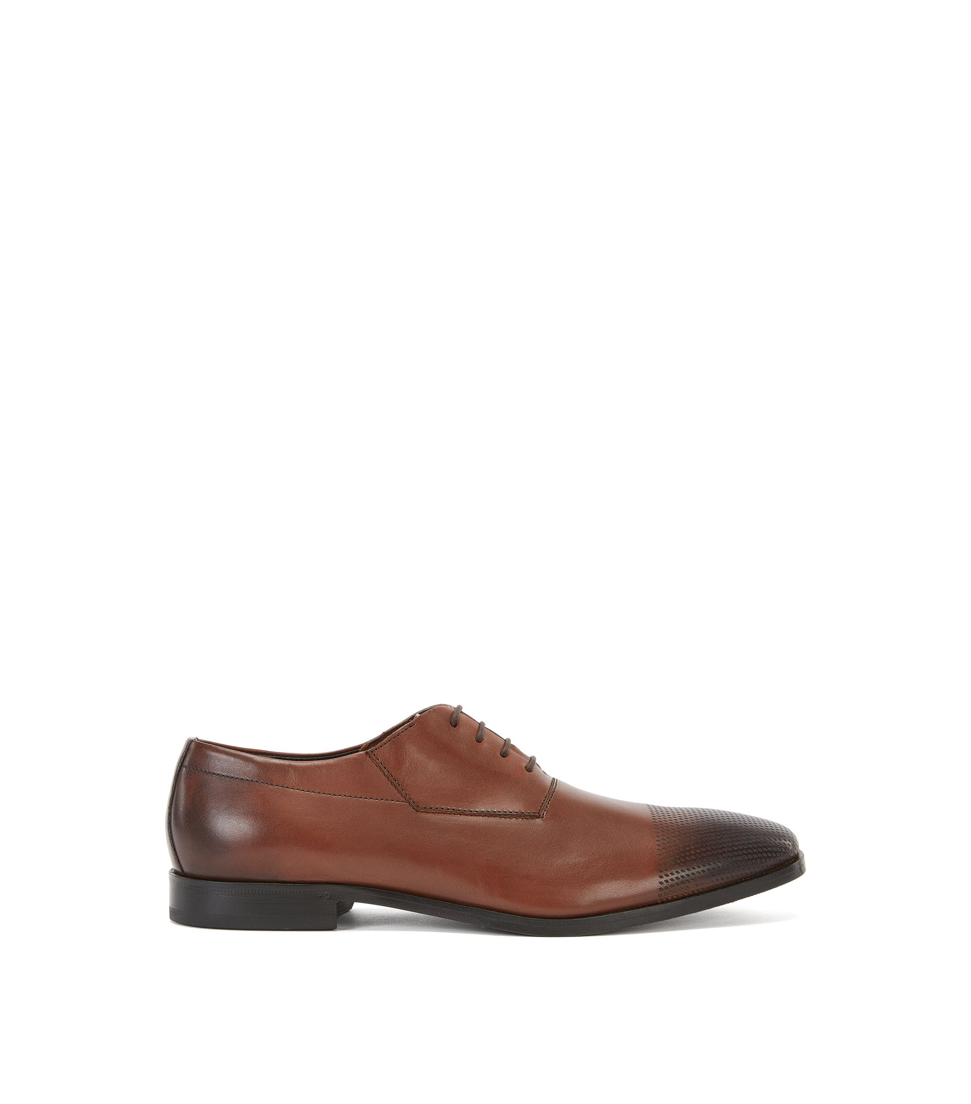 Perforated Leather Toe Oxford Dress Shoe | Square Oxfr Srls, Brown