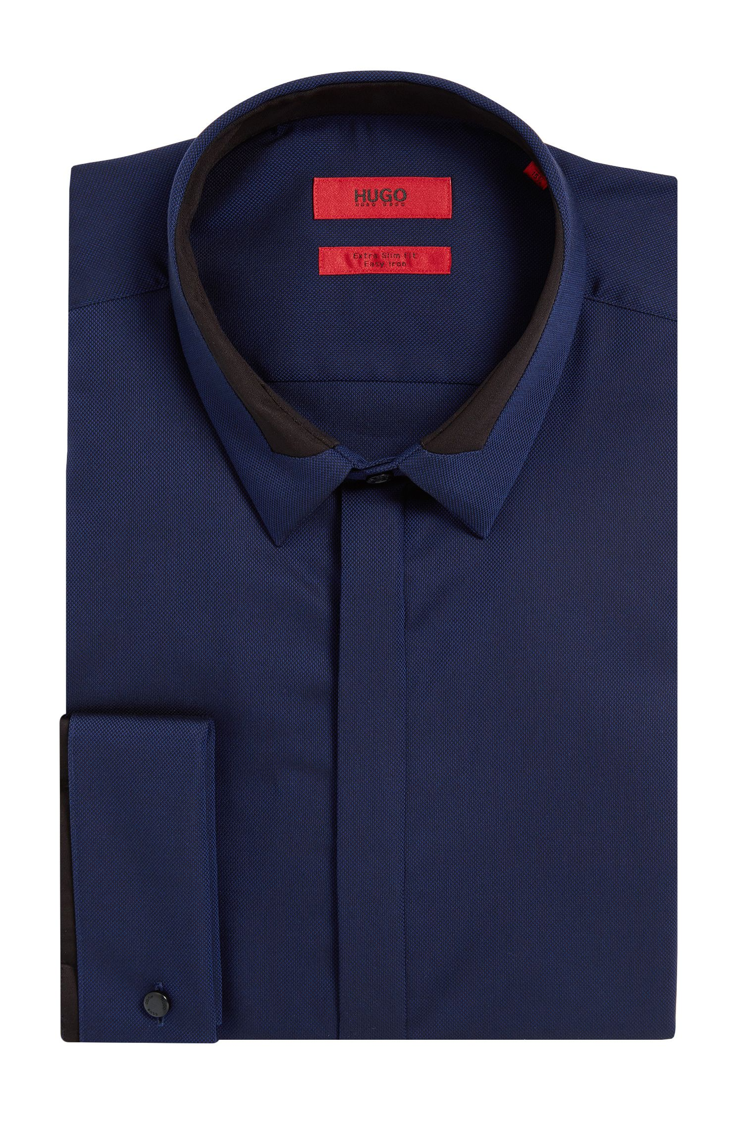'Etris' | Extra Slim Fit, Cotton Royal Oxford French Cuff Dress Shirt
