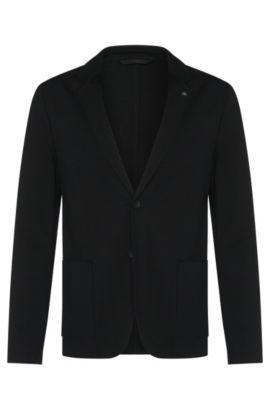 Stretch Jersey Sport Coat, Slim Fit | Agalto , Black