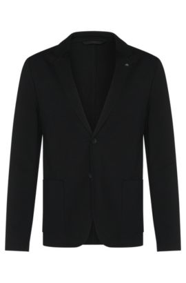 'Agalto' | Slim Fit, Stretch Jersey Sport Coat, Black