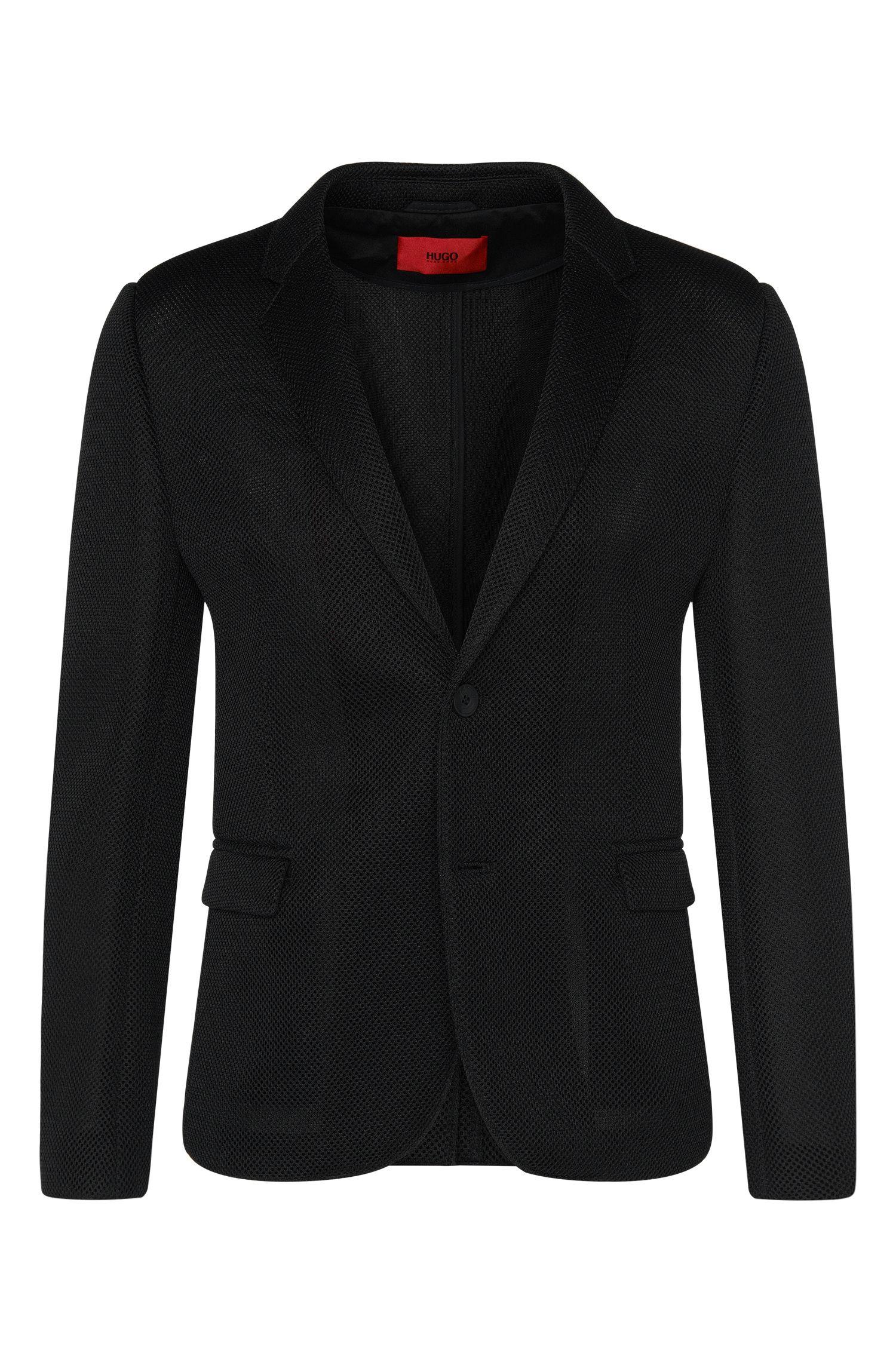 'Arwido' | Slim Fit, Mesh Overlay Sport Coat