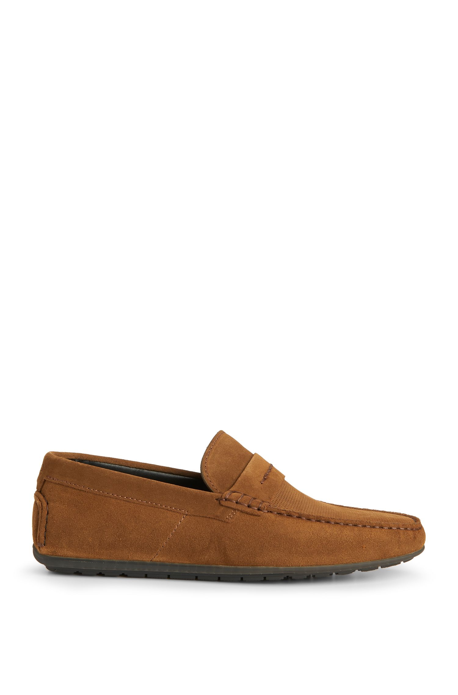 Suede Driving Loafer | Dandy Mocc Plpr, Brown