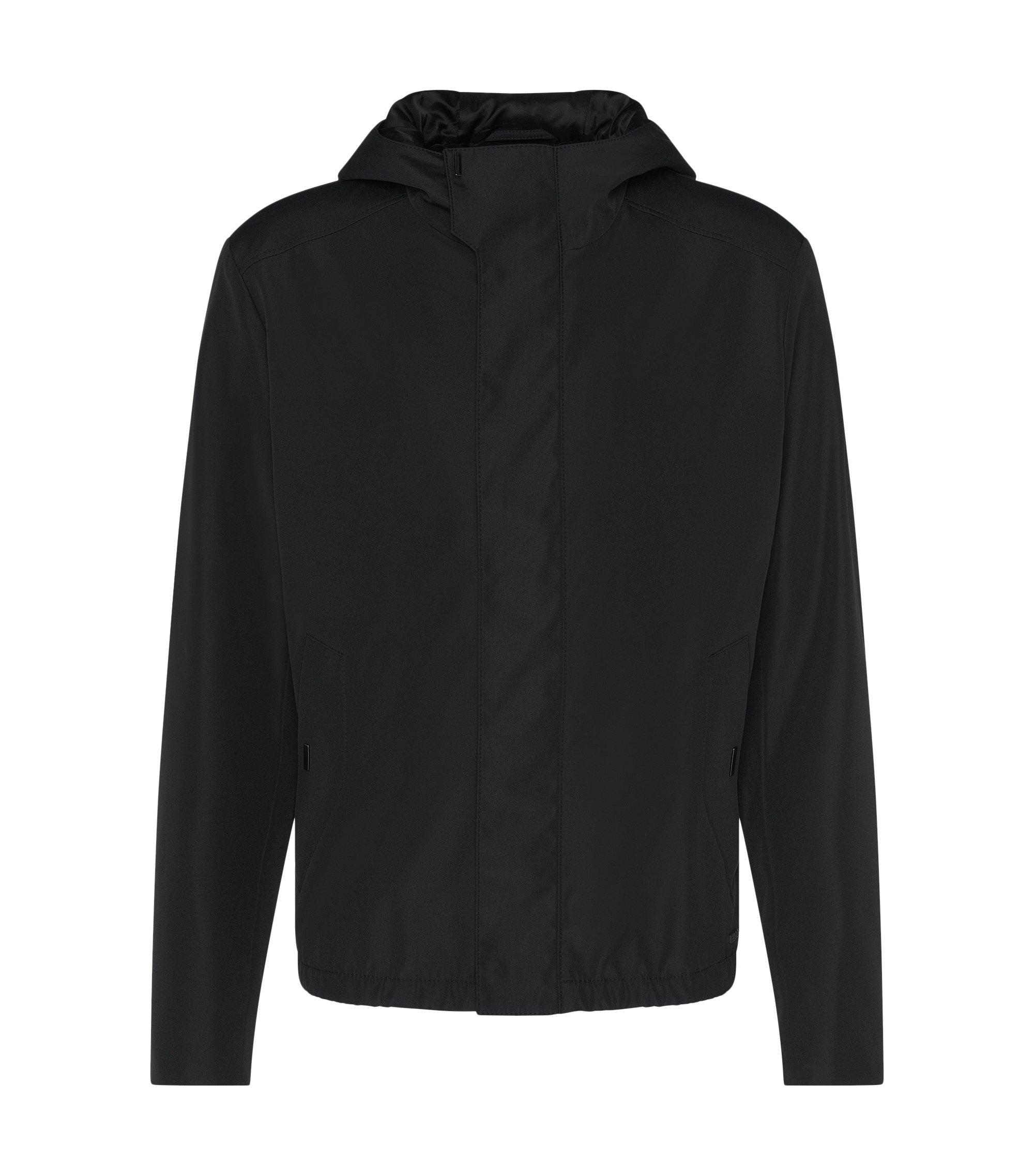 Water-Repellent Hooded Jacket | Batrez, Black