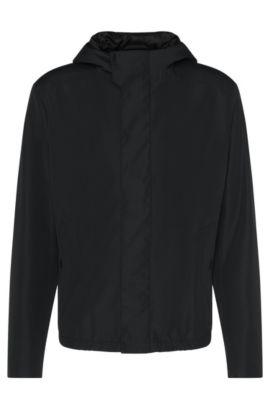 'Batrez' | Water-Repellent Hooded Jacket, Black
