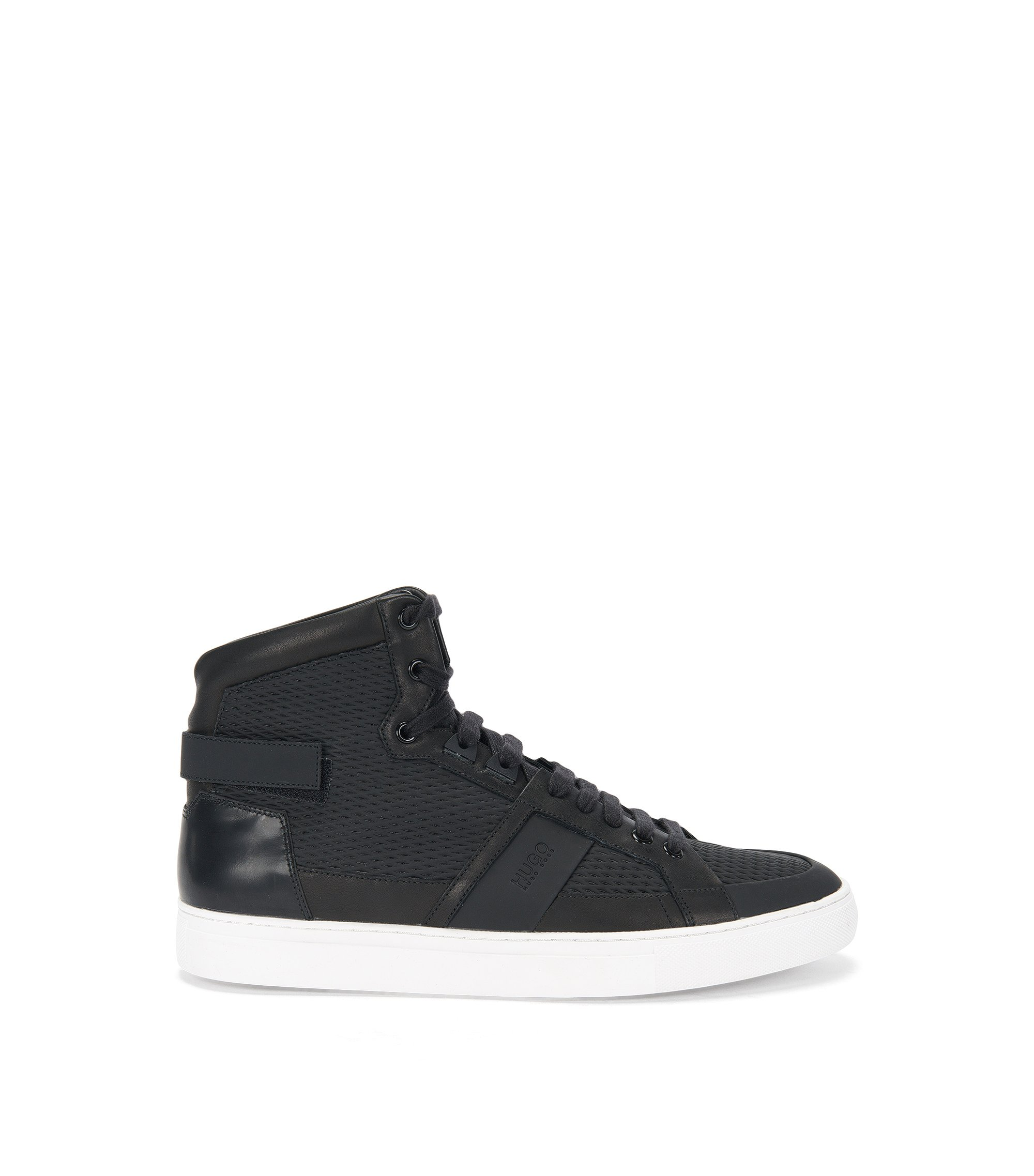 Leather High-Top Sneaker | Futurism Hito ltrb, Black