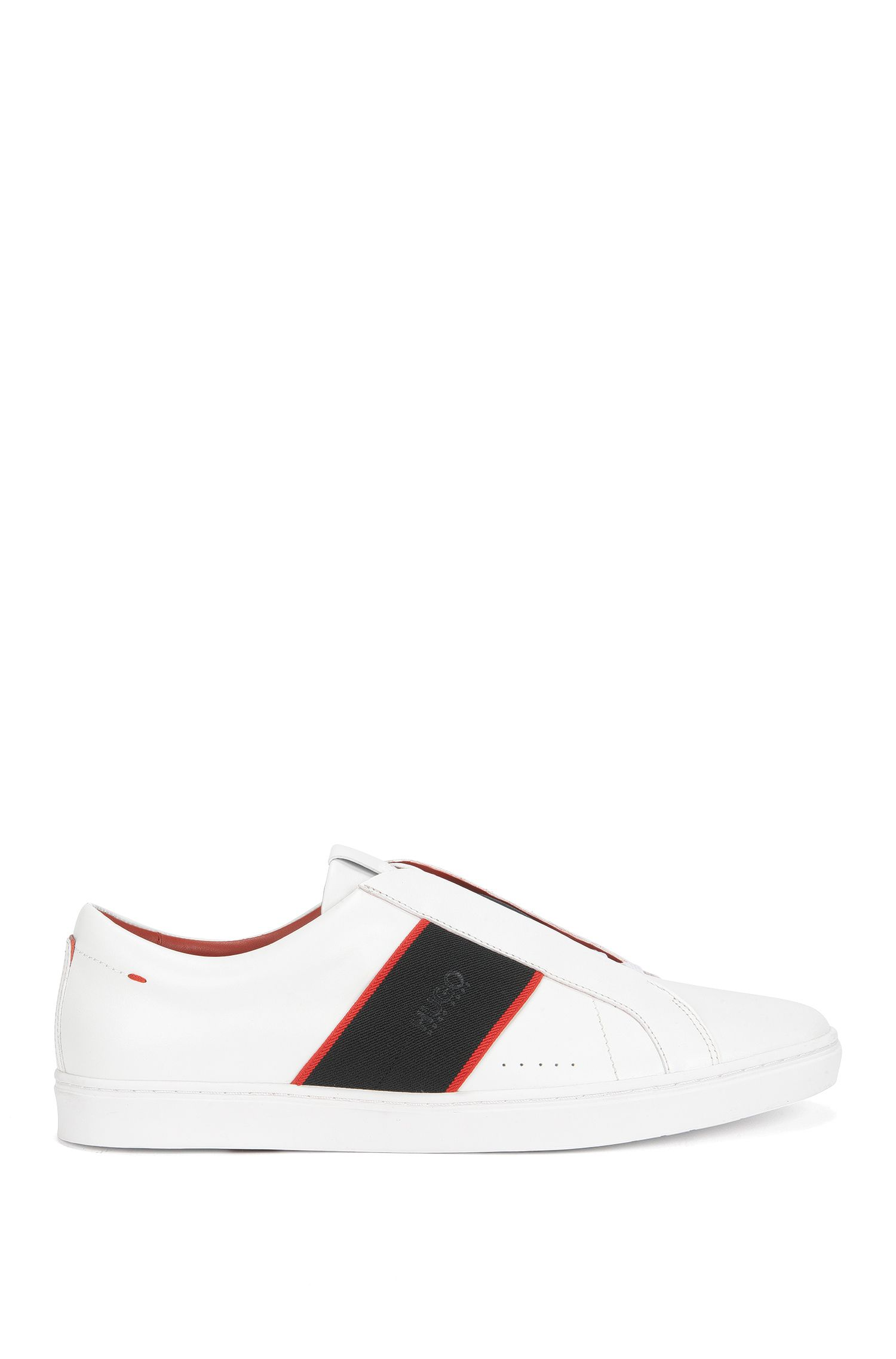 Laceless Leather Sneaker | Post Slon lt, White