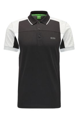 'Paule' | Slim Fit, Cotton Polo Shirt, Black