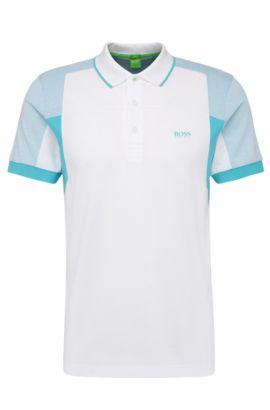 'Paule' | Slim Fit, Cotton Polo Shirt, White
