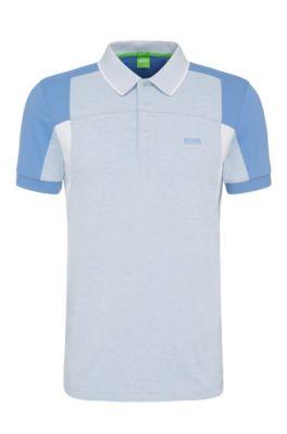 Cotton Polo Shirt, Slim Fit | Paule, Blue