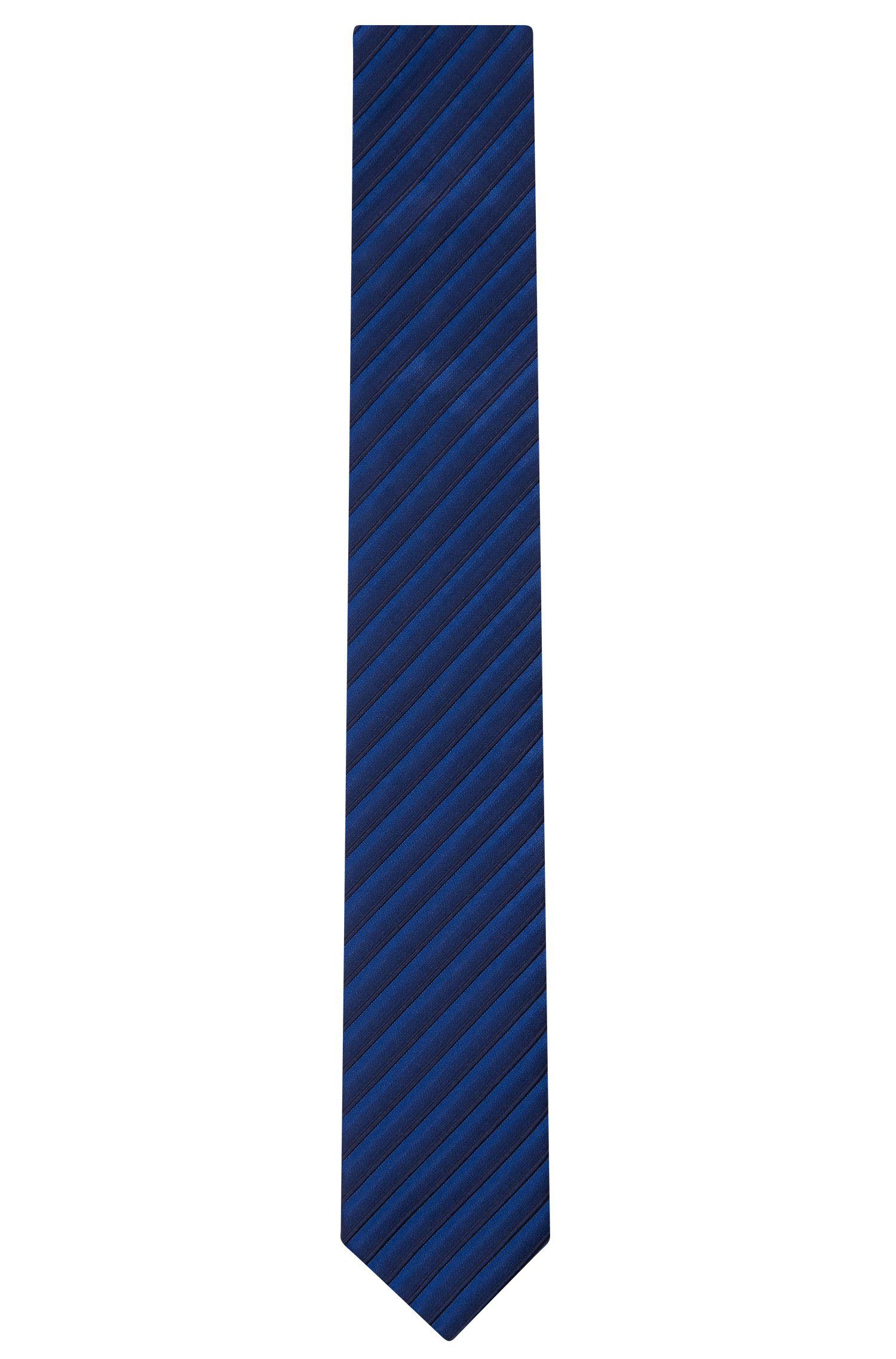 Striped Cotton Silk Tie, Slim | Tie 6 cm