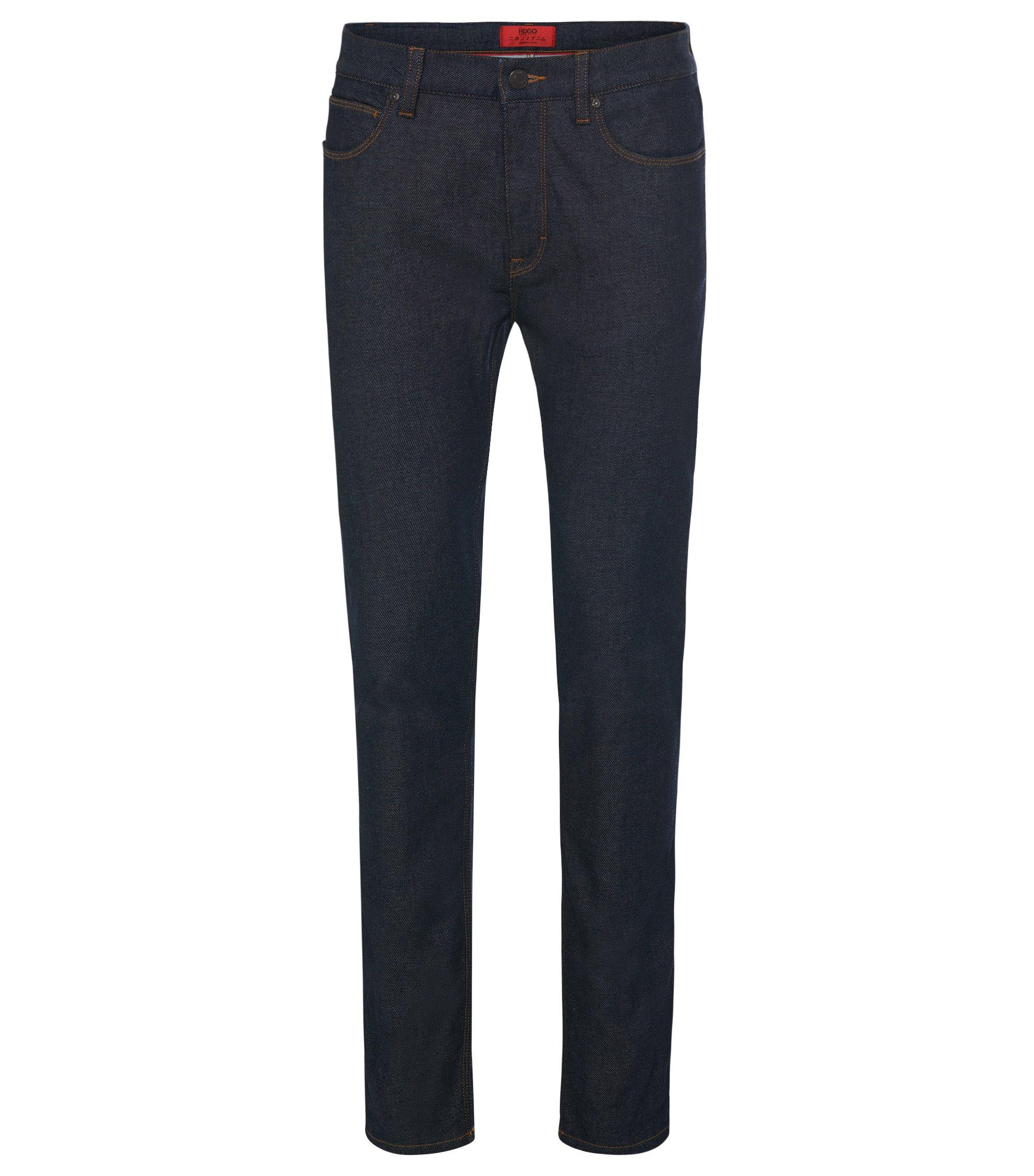 10 oz Japanese Cotton Blend Jeans, Skinny Fit | Hugo 734, Dark Blue