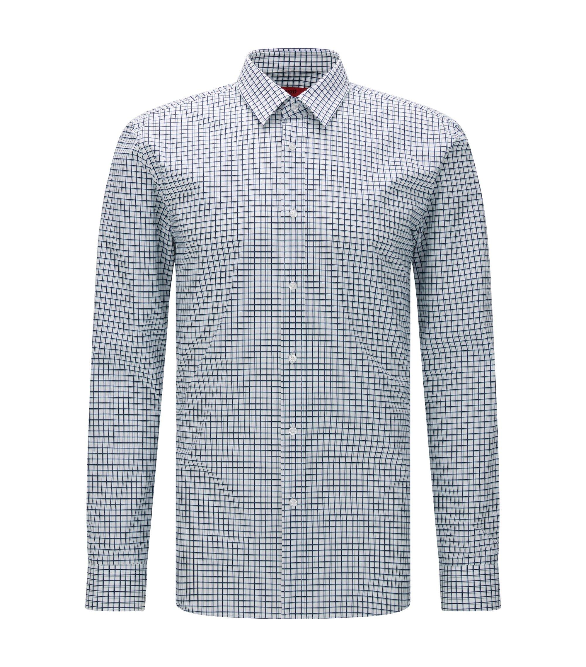 'Elisha' | Exra Slim Fit, Cotton Button Down Shirt, Green