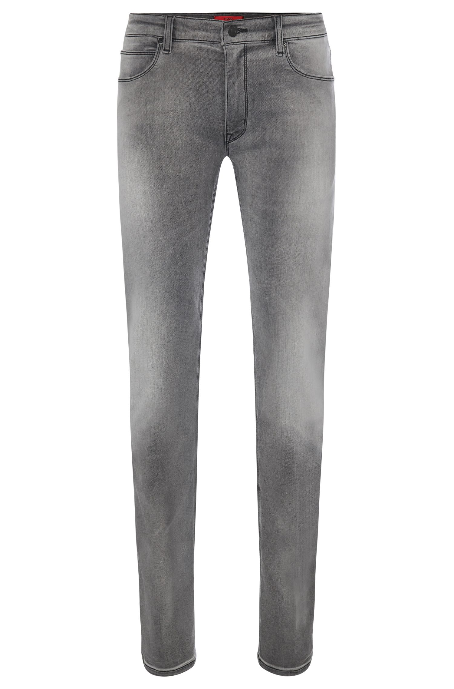 8.5 oz Stretch Cotton Blend Jeans, Slim Fit | Hugo 708