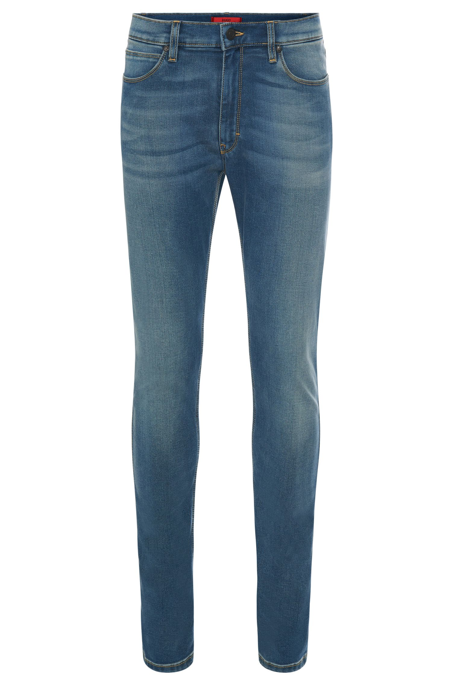 11.75 oz Stretch Cotton Blend Jeans, Skinny FIt | Hugo 734