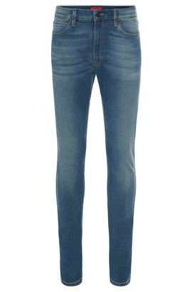 11.75 oz Stretch Cotton Blend Jeans, Skinny FIt | Hugo 734, Light Blue