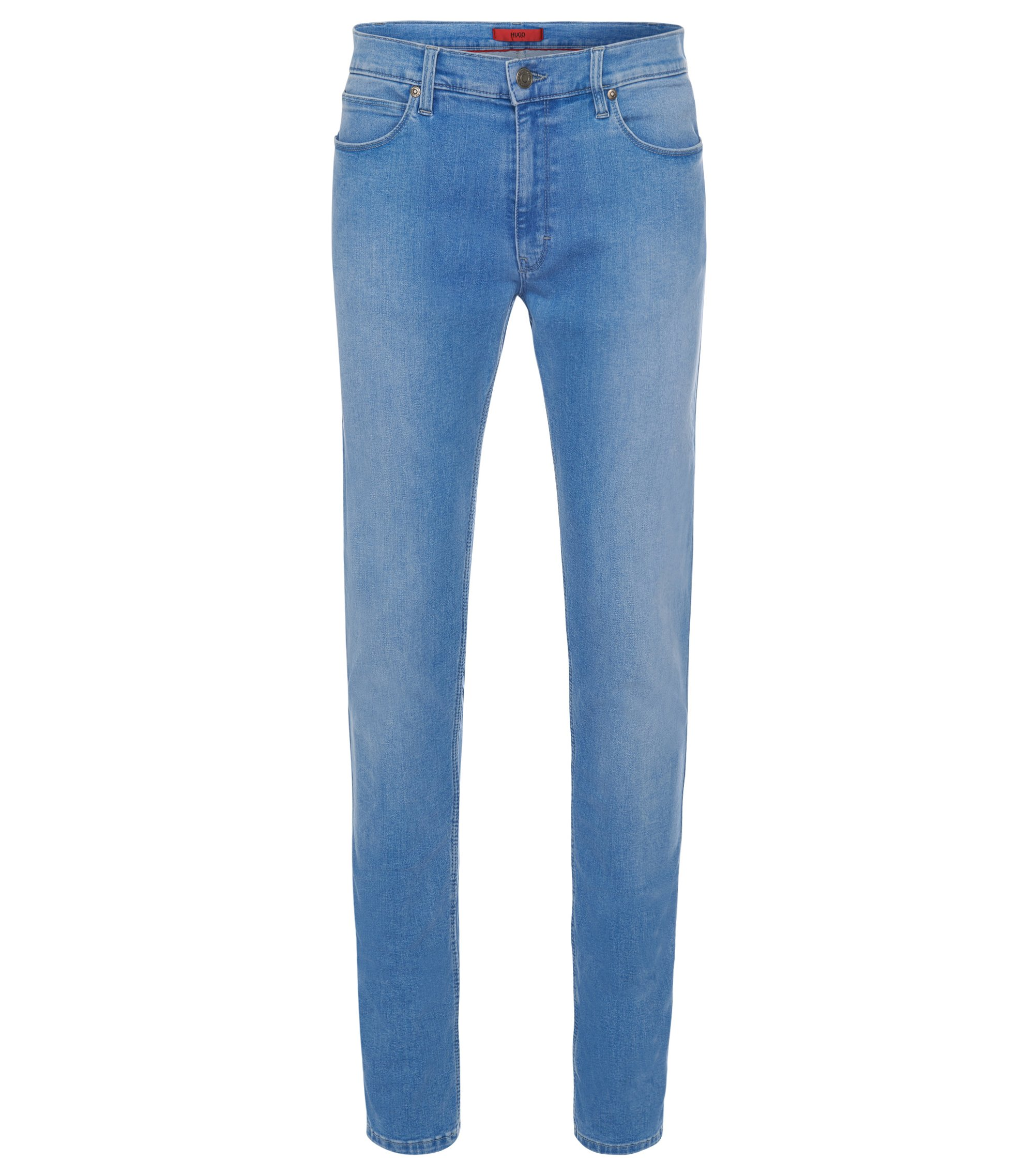 11.75 oz Stretch Cotton Blend Jeans, Slim Fit | Hugo 734, Blue
