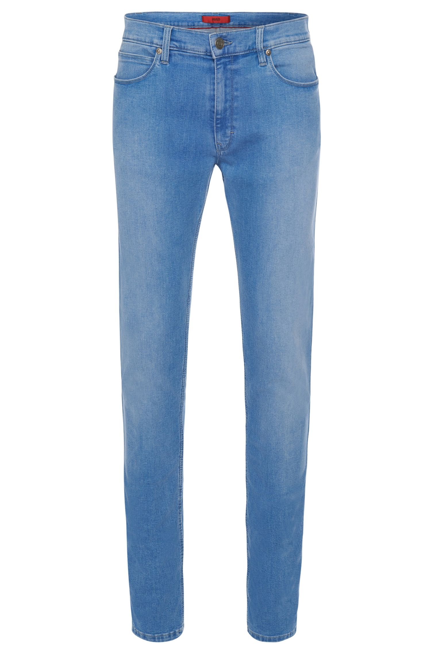 11.75 oz Stretch Cotton Blend Jeans, Slim Fit | Hugo 734