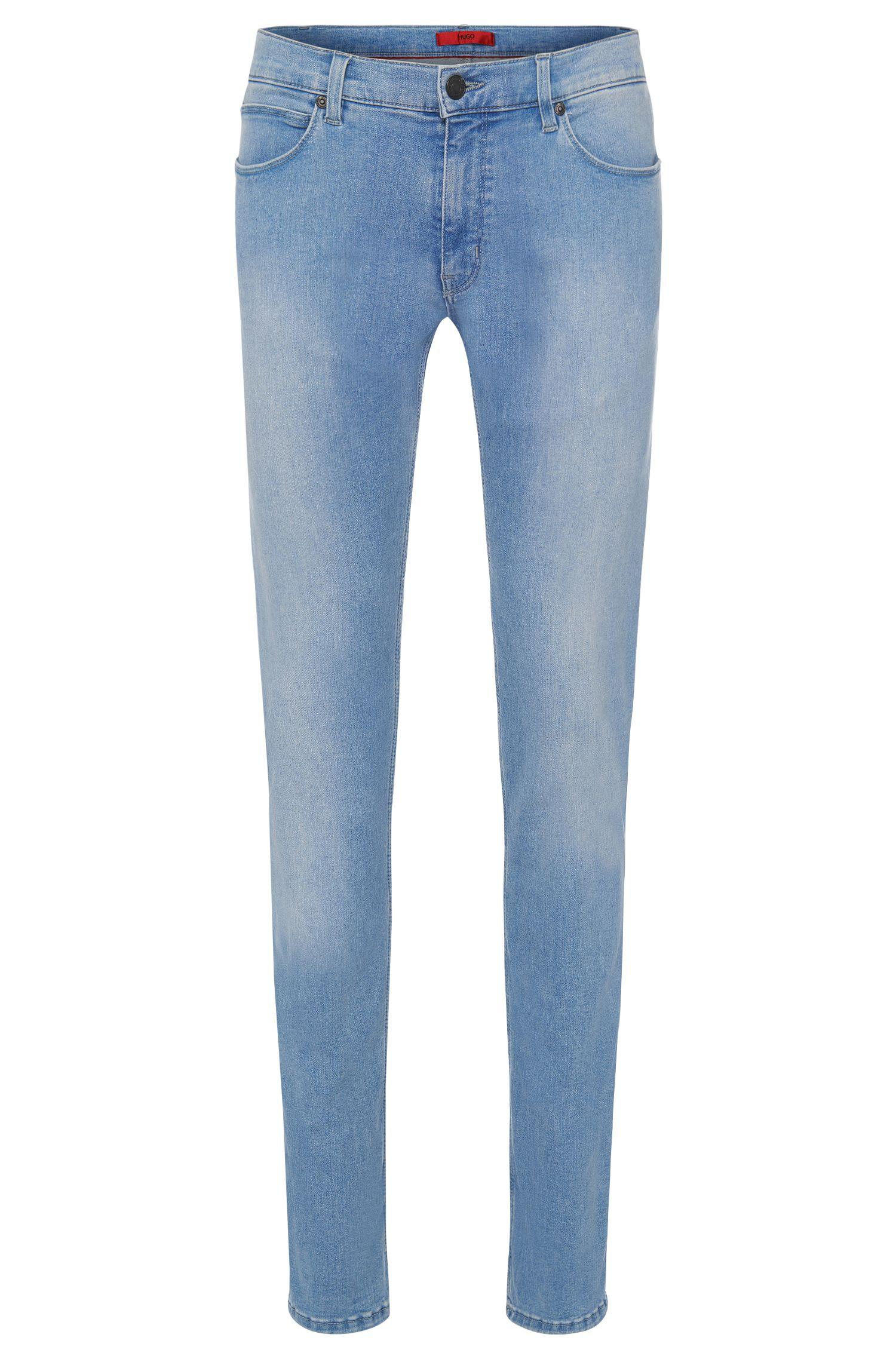 11.75 oz Stretch Cotton Blend Jeans, Slim Fit | Hugo 708
