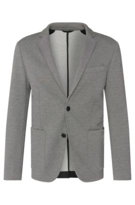 'Ricko' | Extra Slim Fit, Stretch Cotton Blend Pique Jersey Sport Coat, Charcoal