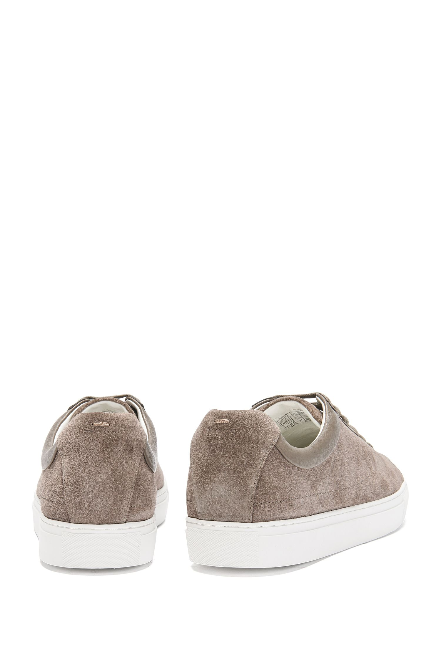 Calfskin Dual Texture Sneaker   Timeless Tenn Sd