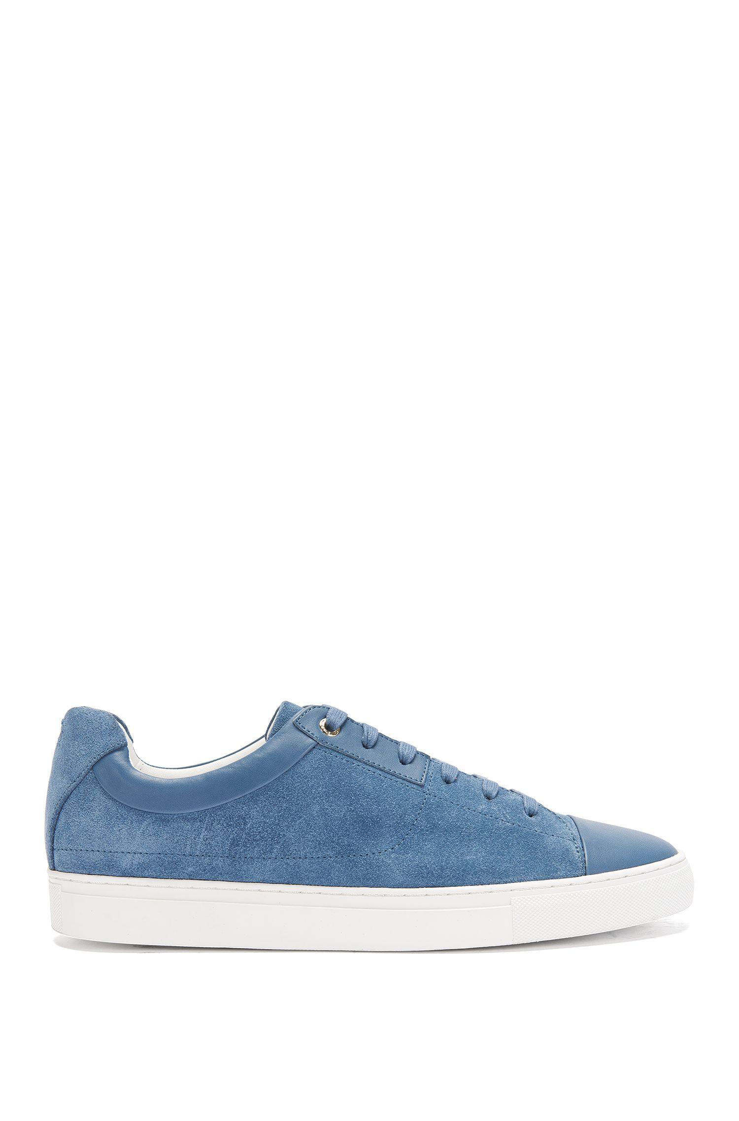 'Timeless Tenn Sd'   Calfskin Dual Texture Sneakers