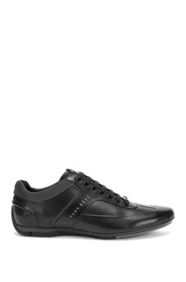Mercedes-Benz Leather Sneaker   Sporty Lowp Itmb, Black