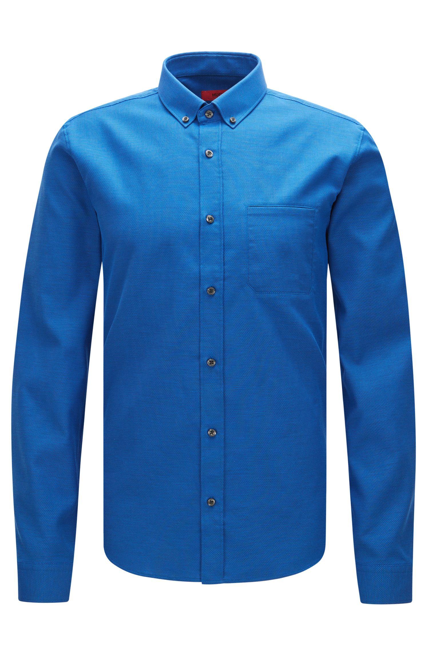 Cotton Button Down Shirt, Slim Fit | Enico