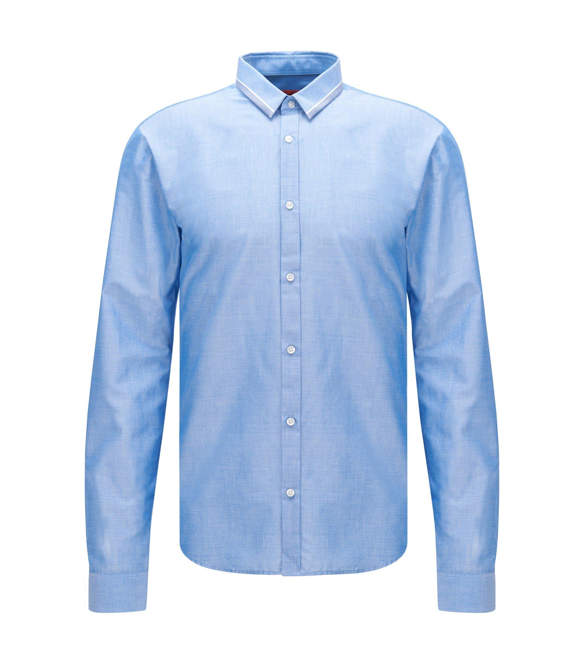 Cotton Button Down Shirt, Slim Fit | Ero, Blue
