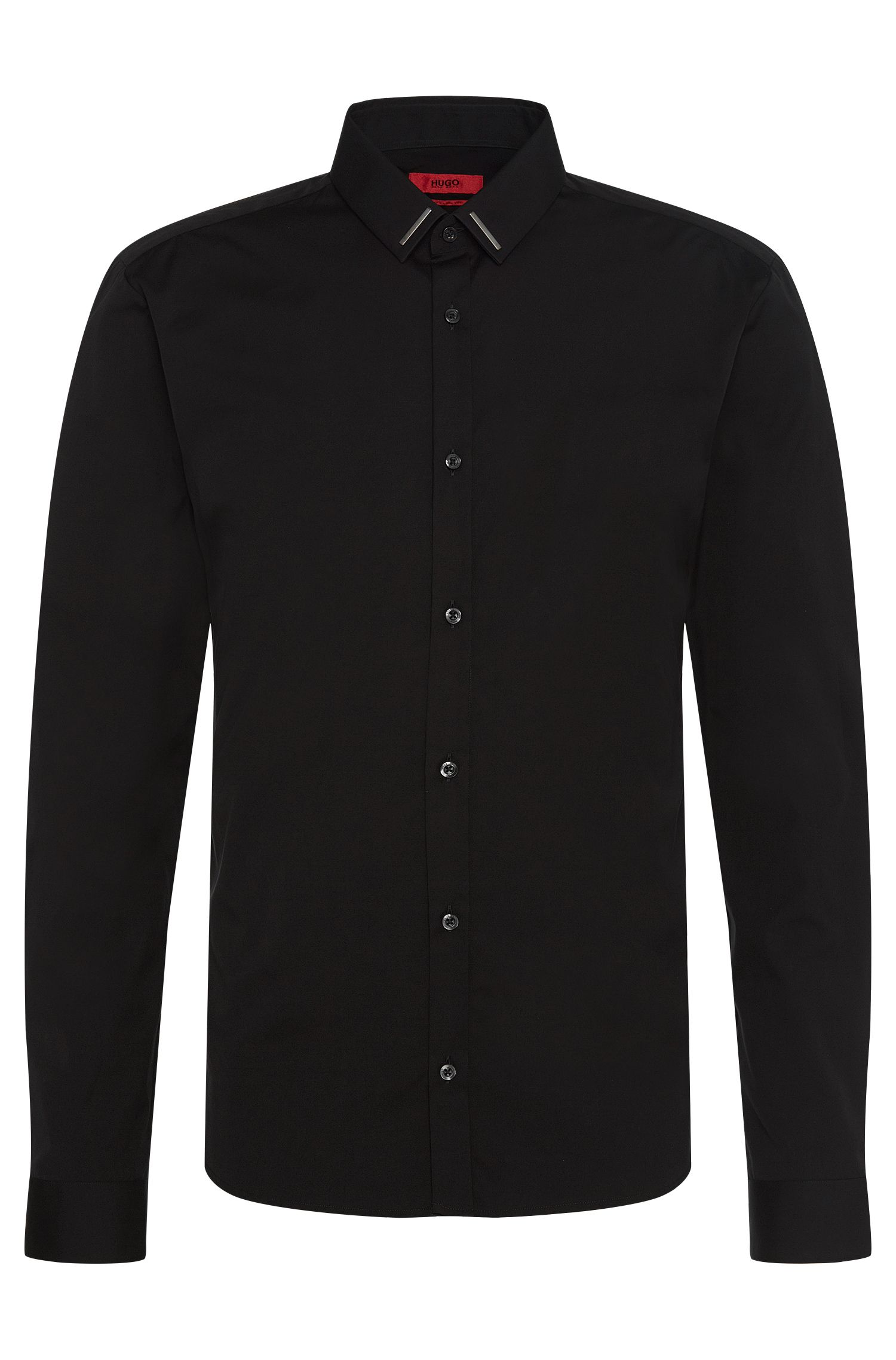 'Ero'   Slim Fit, Stretch Cotton Button Down Shirt