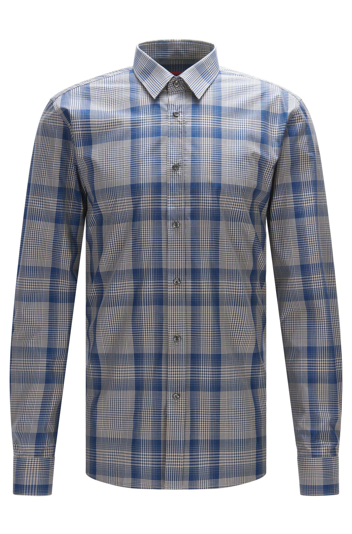 Cotton Button Down Shirt, Extra Slim Fit | Elisha
