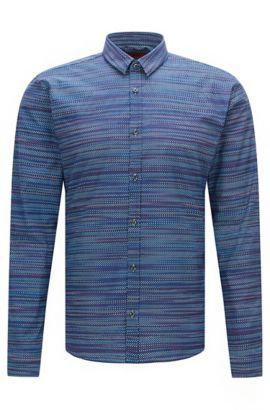 'Ero' | Slim Fit, Cotton Button Down Shirt, Purple