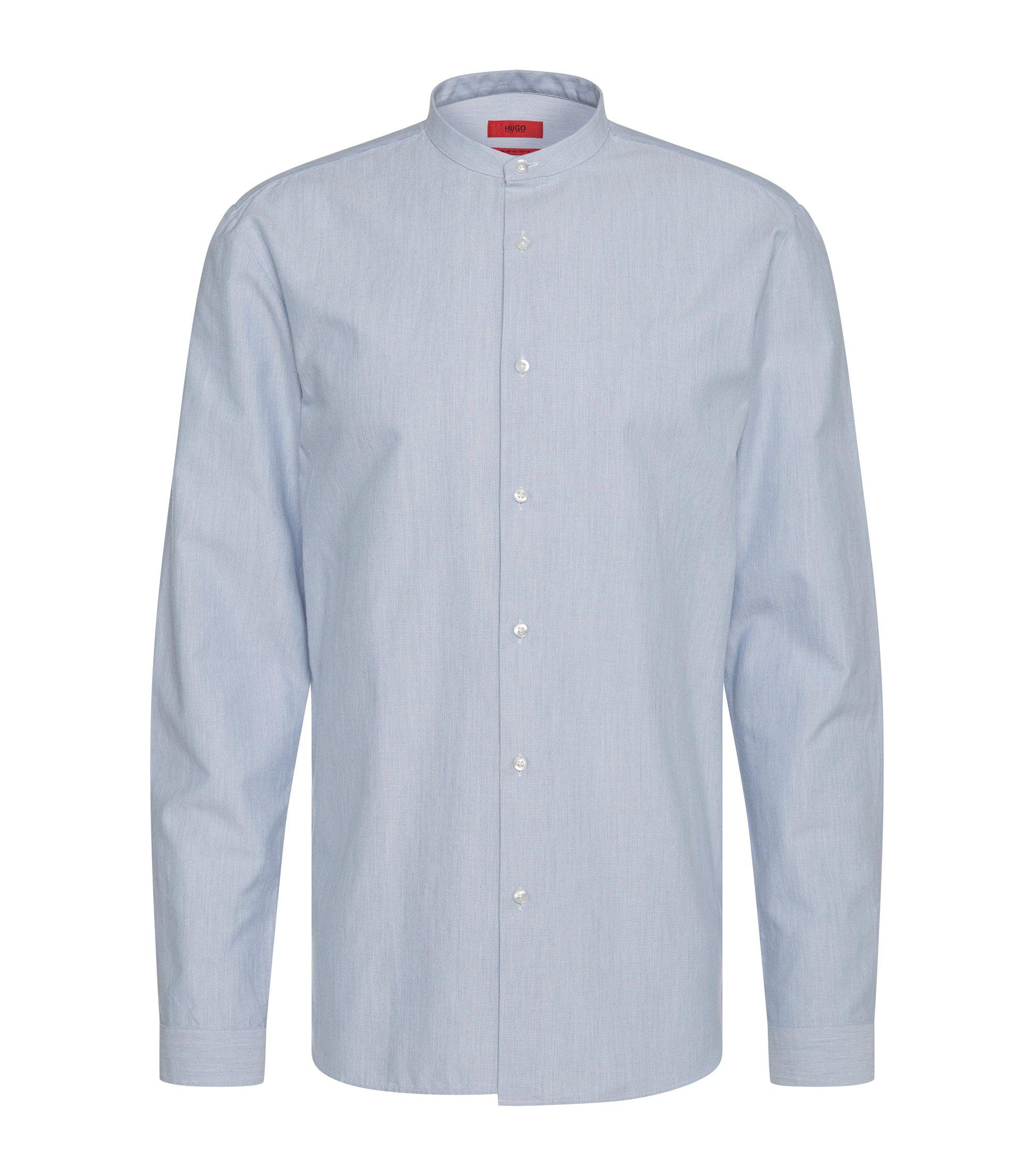 Cotton Button Down Shirt, Regular Fit | Eddison, Light Blue