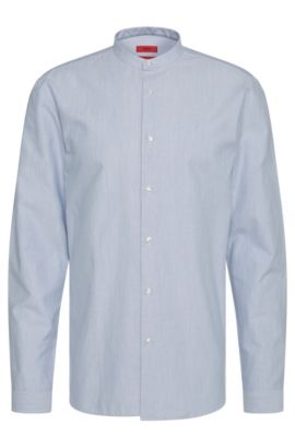 'Eddison' | Regular Fit, Cotton Button Down Shirt, Light Blue