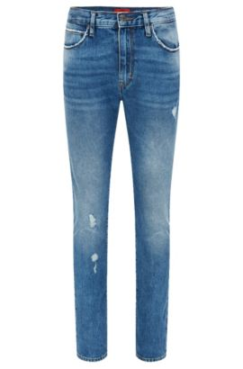 12.5 oz Cotton Jeans, Slim Fit | Hugo 734, Blue