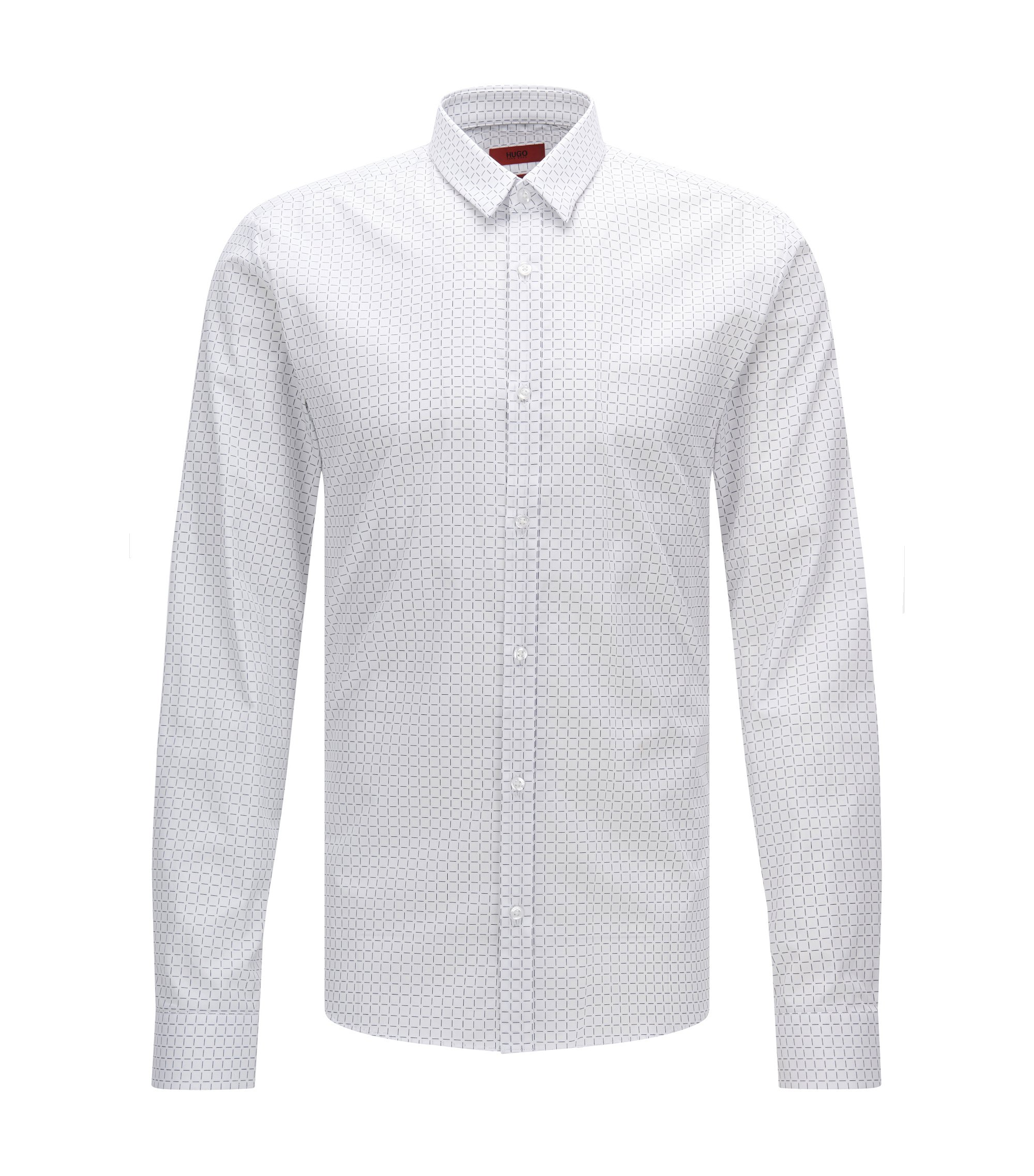 Cotton Button Down Shirt, Slim Fit | Ero, Open White