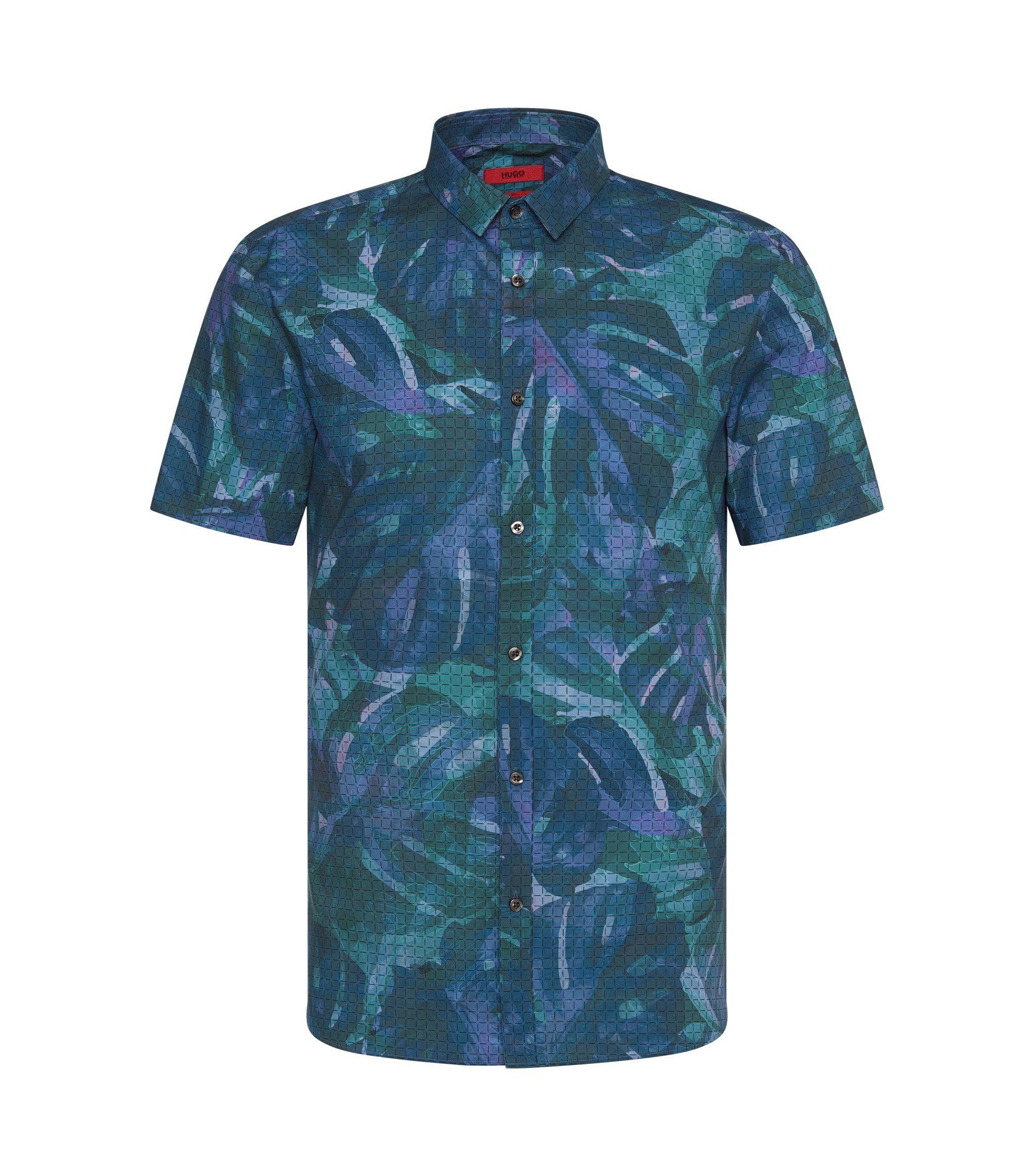 Cotton Button Down Shirt, Slim Fit | Empson, Green