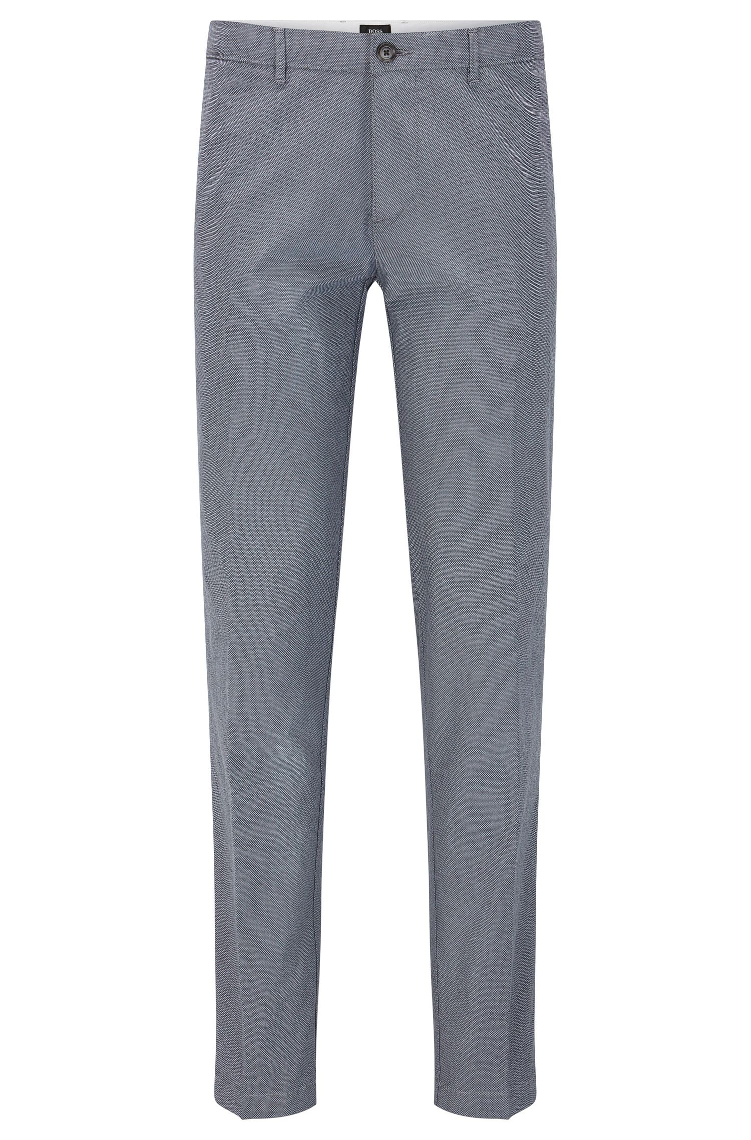 'Crigan W' | Regular Fit, Stretch Cotton Trousers