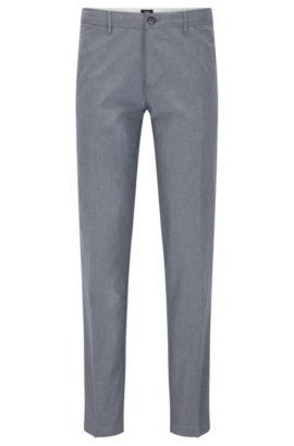 Stretch Cotton Trousers, Regular FIt | Crigan W, Grey