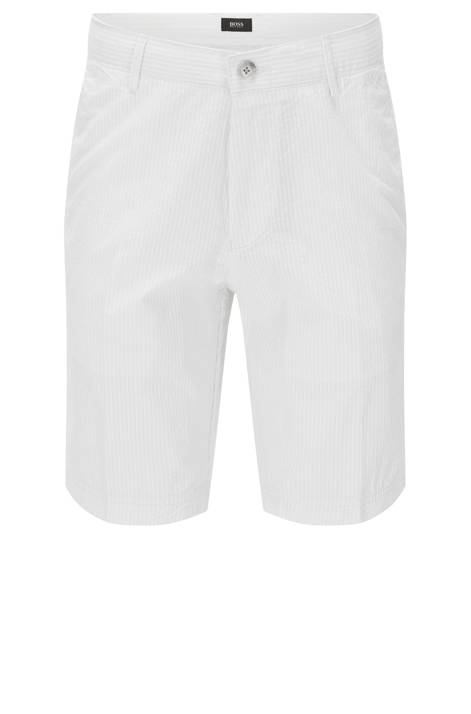 Cotton Tonal Seersucker Short, Regular Fit   Crigan Short W