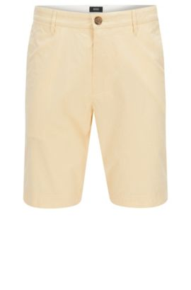 'Crigan Short W' | Stretch Cotton Shorts, Yellow