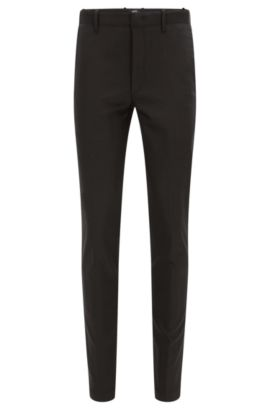 'Kaito MB W' | Slim Fit, Stretch Cotton Blend Chinos, Black