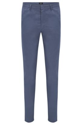 'Kaito W' | Slim Fit, Stretch Cotton Blend Chino Pants, Open Blue