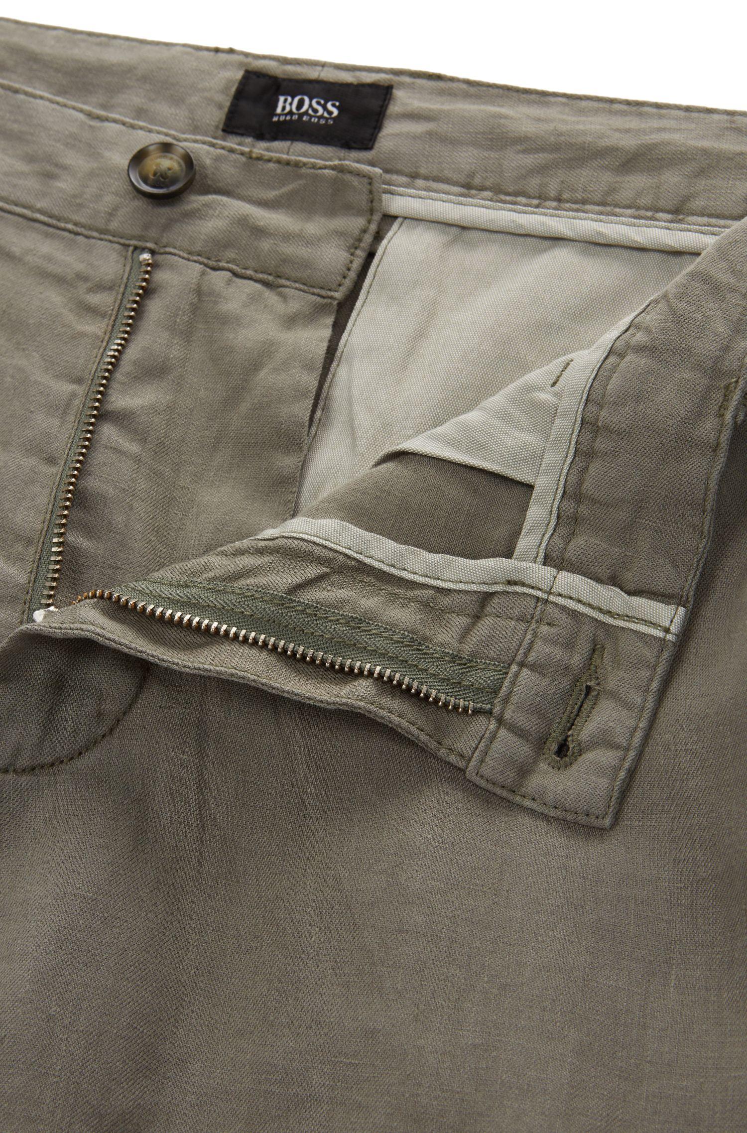 Regular Fit, Linen Short, Regular Fit | Crigan Short D